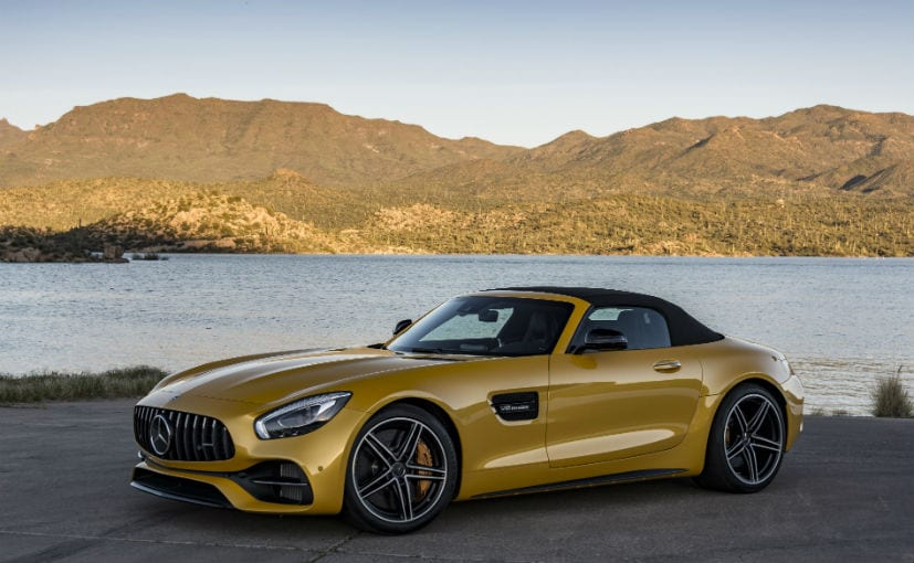 mercedes amg gt c with roof up