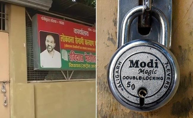 'Modi Magic' Lock Seen Outside House Of Defeated Samajwadi Party MLA