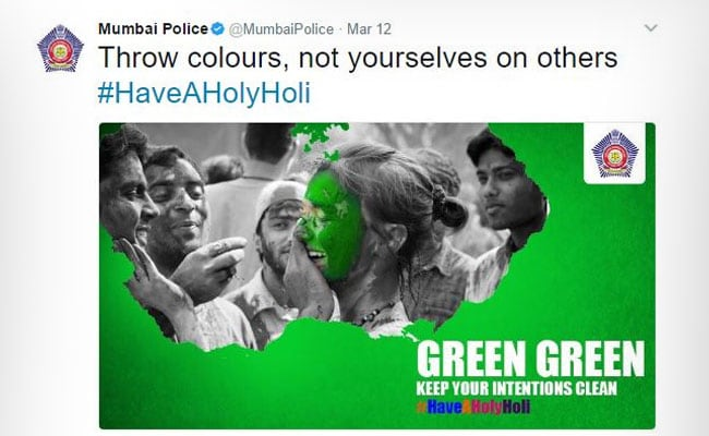 Happy Holi: Mumbai Police's 'Punny' Warning To Holi Hooligans On Twitter