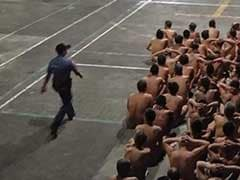 Hundreds Of Naked Prisoners Searched For Contraband In Philippine Jail