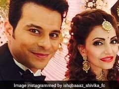 <i>इश्कबाज</i> अभिनेत्री नवीना बोले ने बॉयफ्रेंड से की शादी, रिसेप्शन में पहुंचे शिवाय, अनिका