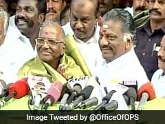 O Panneerselvam Camp Fields Veteran Madhusudanan In Tamil Nadu's RK Nagar By-Poll