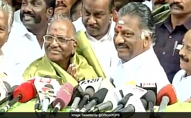 O Panneerselvam Camp Fields Veteran Madhusudanan In Tamil Nadu's RK Nagar By-Poll