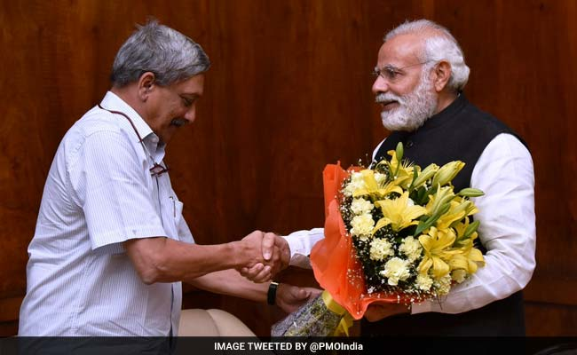 Goa Chief Minister Manohar Parrikar Meets PM Narendra Modi In Delhi