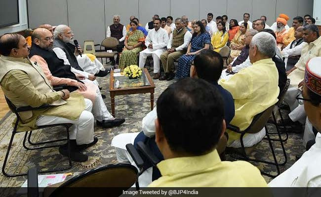 pm modi breakfast meeting up lawmakers 650