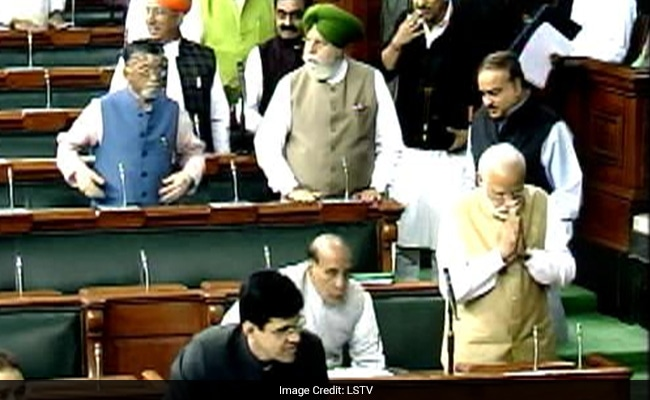 PM Narendra Modi Given Grand Welcome At Lok Sabha Following BJP Win In Elections