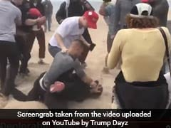 A Pro-Trump Rally Ends Up With A Man Getting Beaten With A 'Make America Great Again' Sign