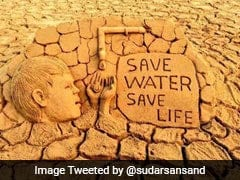 World Water Day 2017: Odisha Sand Artist's Appeal To Save Water