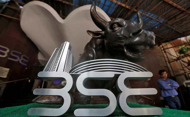 Sensex was up nearly 200 points in noon trade.