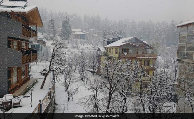 Intermittent Snowfall Follows Bright Sunlight In Shimla