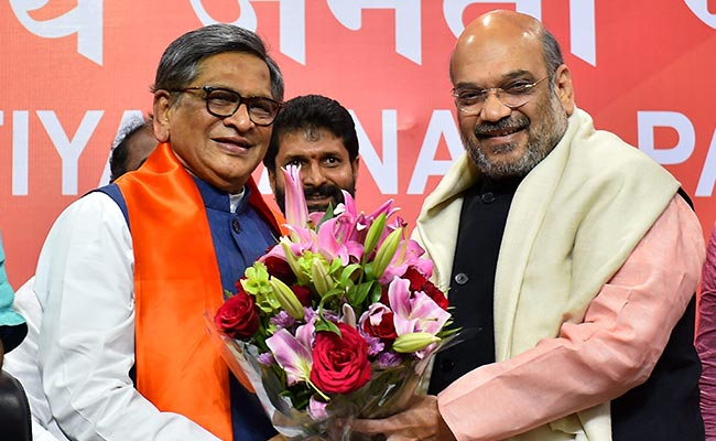 'Planted by Desperate Congress': BJP On Rumours Of SM Krishna Quitting