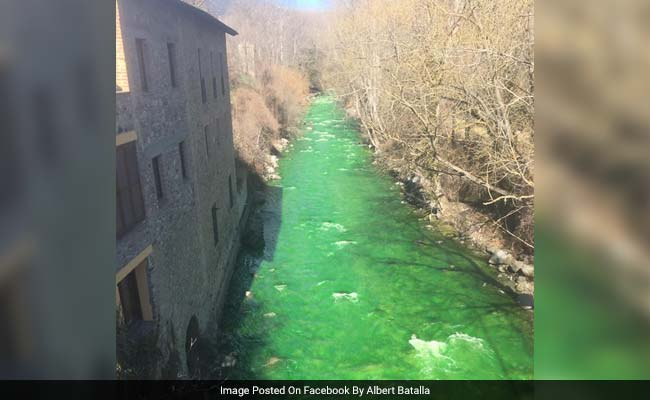 Viral: A River In Spain Mysteriously Turned Green. See The Bizarre Photos