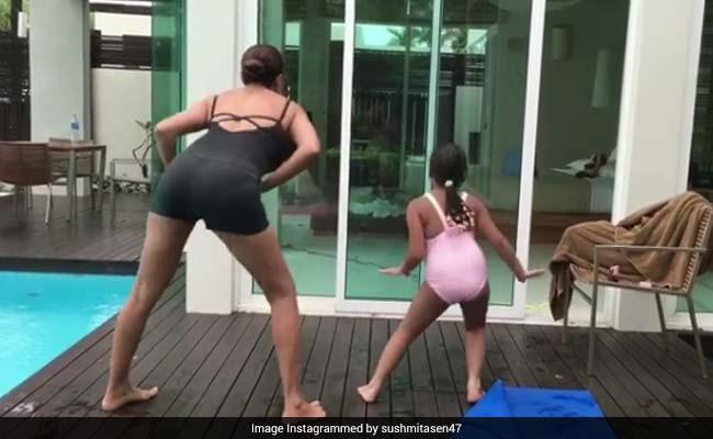 क्या आपने देखा बेटी अलिसाह के साथ सुष्मिता सेन का क्यूट डांस?