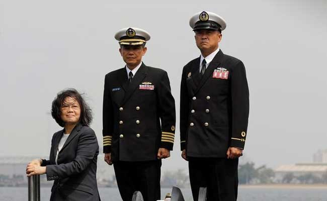 Taiwan President On Visit To 50-Year-Old Vessel Vows To Build A Submarine