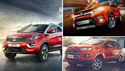 Spec Comparison: Tata Nexon Vs Vitara Brezza Vs KUV100 Vs EcoSport Vs WR-V Vs i20 Active