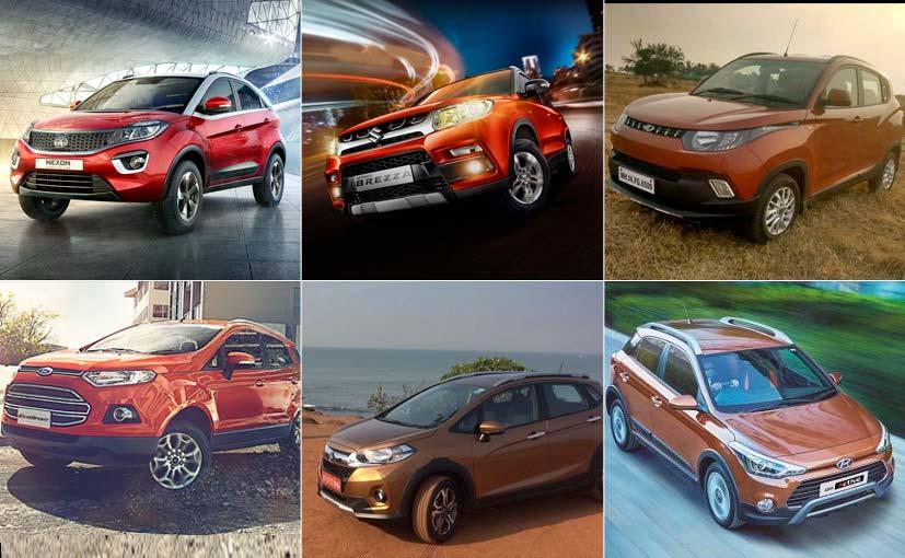 Spec Comparison: Tata Nexon Vs Vitara Brezza Vs KUV100 Vs EcoSport Vs WR-V Vs i20 Active