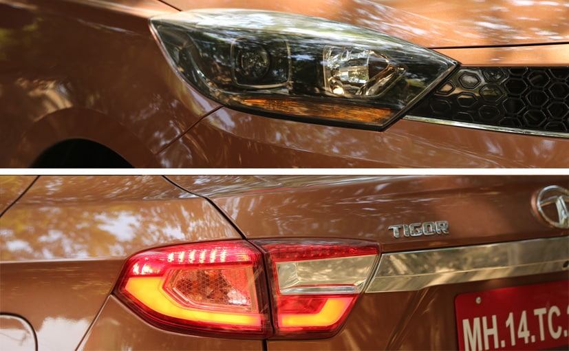 tata tigor headlights and tail lights