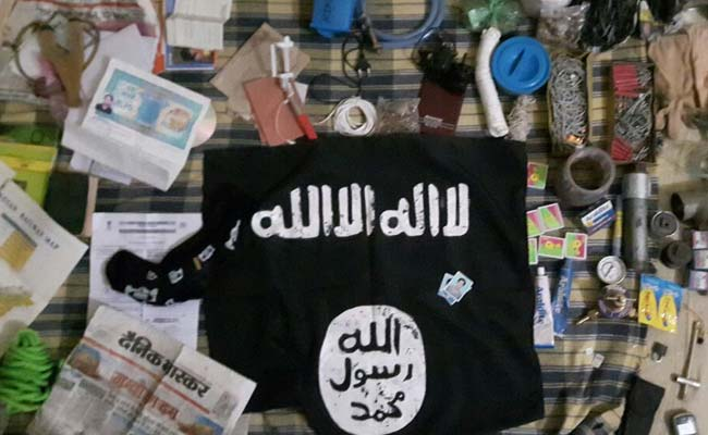 thakurganj encounter isis flag