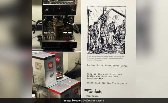 Why Tom Hanks Bought Journalists At The White House An Espresso Machine