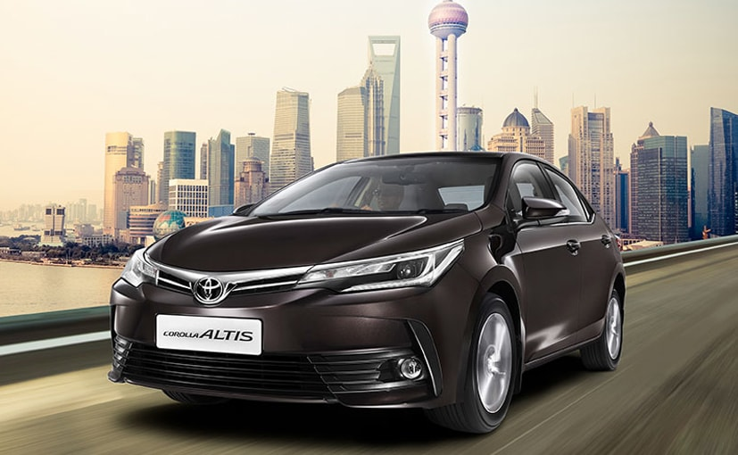 2017 toyota corolla altis facelift launched in india prices start at rs lakh ndtv. Black Bedroom Furniture Sets. Home Design Ideas