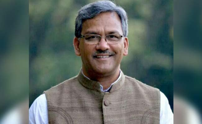 Image result for images of uttrakhand cm trivendra singh rawat