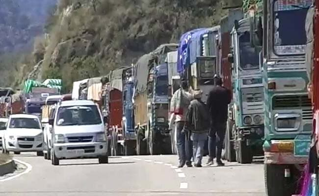 Vehicular Traffic On Jammu-Srinagar Highway Suspended After Landslide