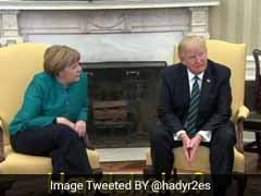 डोनाल्ड ट्रंप ने जर्मन चांसलर मर्केल से हाथ मिलाने से किया इंकार, ट्विटर मामले में कूदा
