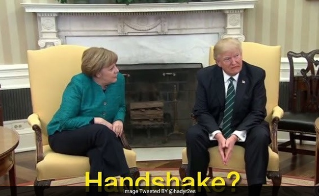 Donald Trump Snubs Angela Merkel's Handshake Request, Twitter Reacts