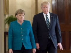 Tensions Show As Donald Trump, Angela Merkel Meet For First Time