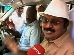 TTV Dinakaran Wears New Poll Symbol, Says Hat Will Remind Voters Of MGR