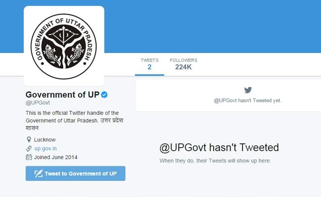 up govt twitter handle