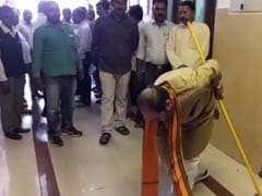 Adityanath Minister's DIY Moment: Grabs Broom In Anger, Gets Sweeping