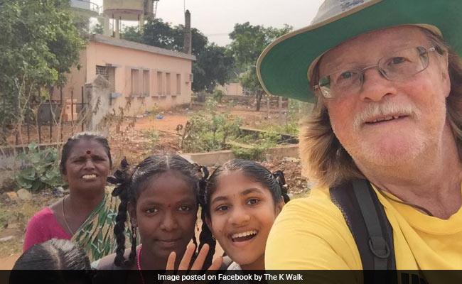 British Man Walks From Kanyakumari To Kolkata To Raise Money For Charity