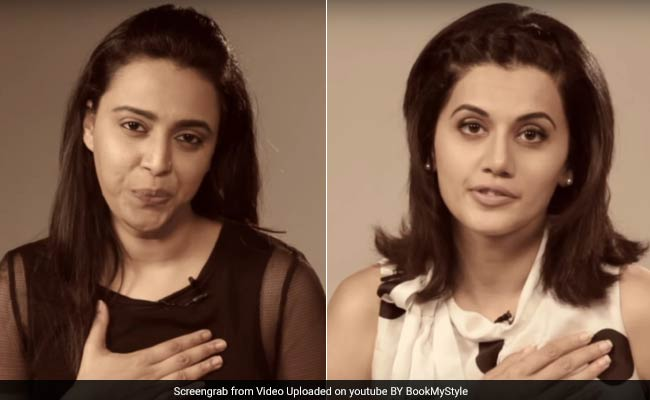 'It's My Body.' This Video By Actors Swara Bhaskar, Taapsee Pannu Has Gone Viral