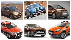 Honda WR-V vs Maruti Suzuki Vitara Brezza vs Ford EcoSport vs Fiat Avventura vs Hyundai i20 Active vs Toyota Etios Cross: Spec Comparison