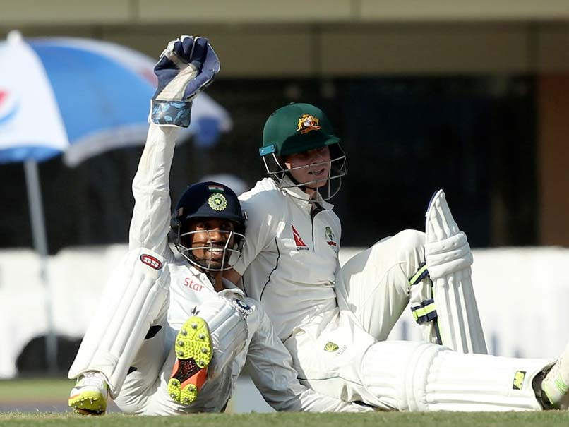 India vs Australia: Wriddhiman Saha-Steve Smith Wrestling Match Has Umpire Ian Gould In Splits