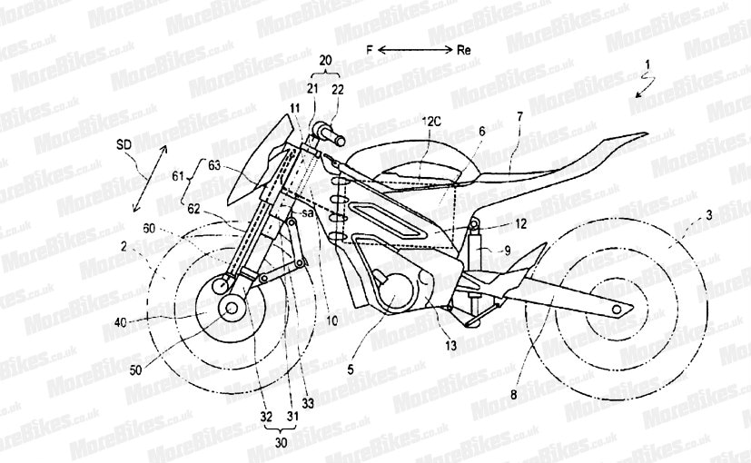 Yamaha Files Patent For Two Wheel Drive Motorcycle