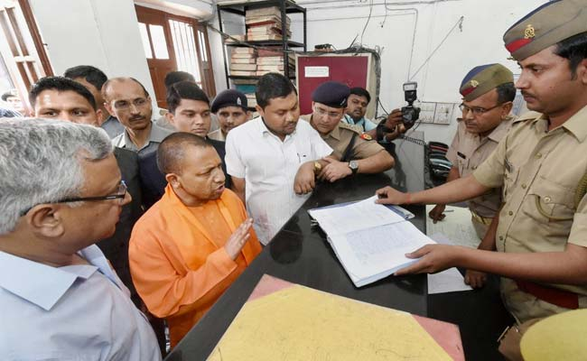 Yogi Adityanath's Surprise Check At Lucknow Police Station