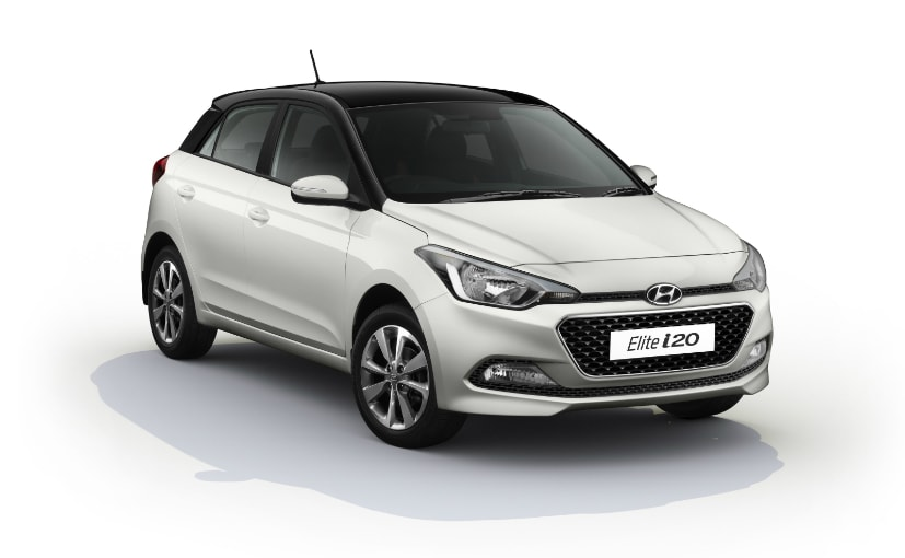 hyundai i20 facelift launched in india with two tone option ndtv carandbike. Black Bedroom Furniture Sets. Home Design Ideas