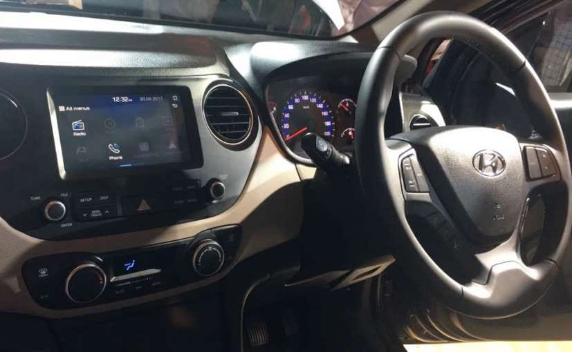 2017 hyundai xcent facelift interior launch
