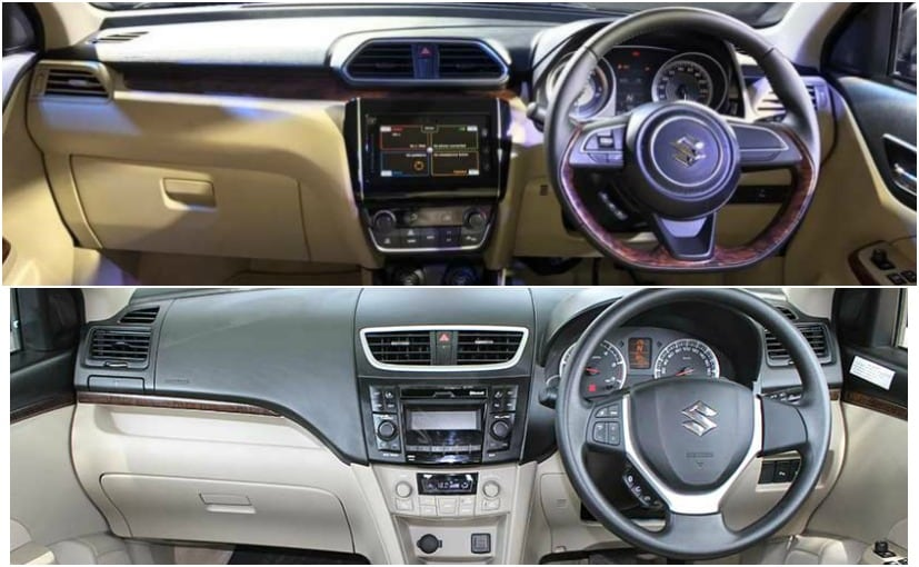 2017 maruti suzuki dzire interior old vs new