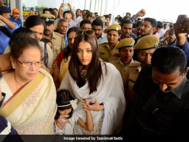 Aishwarya Rai Bachchan In Mangalore To Immerse Late Father Krishnaraj Rai's Ashes