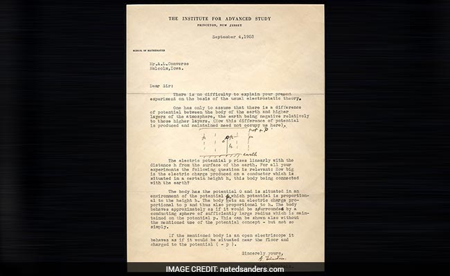Albert Einstein's Letter Fetches USD 54,000 At An Auction