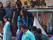 Anushka Sharma Spotted Shooting For Imtiaz Ali's Film In Mumbai