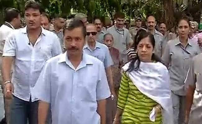 arvind kejriwal wife voting