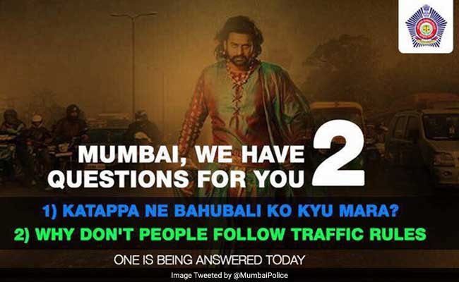 Mumbai Police Joins Baahubali Mania With Tongue-In-Cheek Tweet
