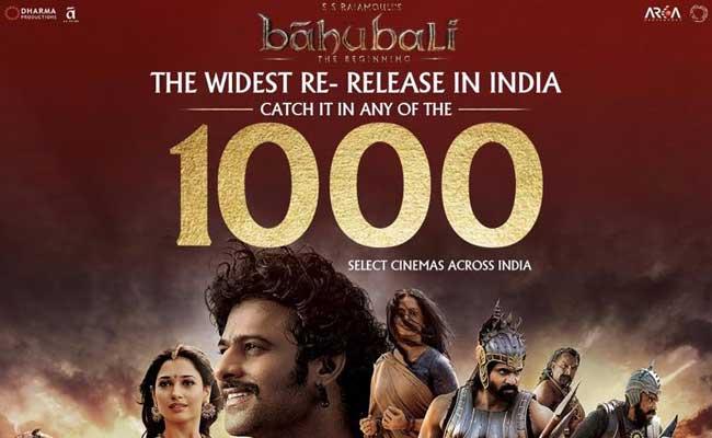 एक हजार से ज्यादा स्क्रीनों पर 'बाहुबली-द बिगनिंग' की री-रिलीज़ आज
