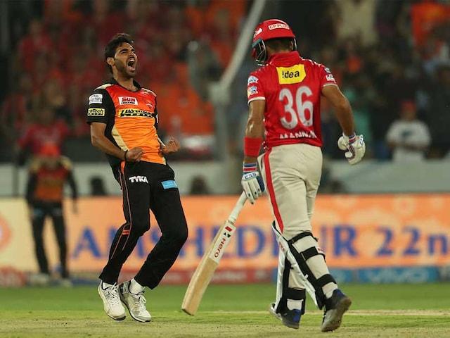 IPL 2017: Bhuvneshwar Kumar Overshadows Manan Vohra In SRHs Thrilling Win Over KXIP