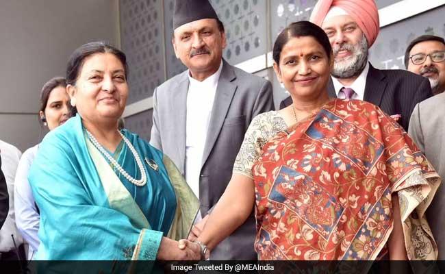 Nepal's President Bidhya Devi Bhandari Arrives In Delhi