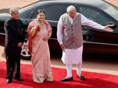 Prime Minister Narendra Modi, Sushma Swaraj Meet Nepal President In Delhi